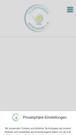 Vorschau der mobilen Webseite www.tcseppensen.de, Tennisclub Seppensen e.V.