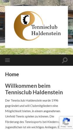 Vorschau der mobilen Webseite www.tc-haldenstein.ch, Tennisclub Haldenstein