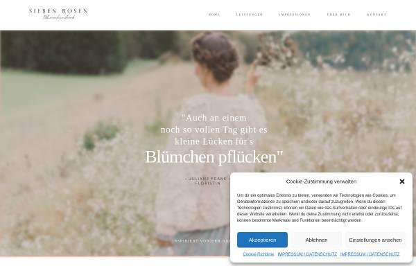 Vorschau von www.siebenrosen.de, Sieben Rosen - Floristik und Wohndesign