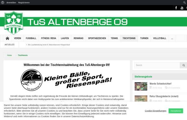 Vorschau von www.tus-altenberge.de, TuS Altenberge 09