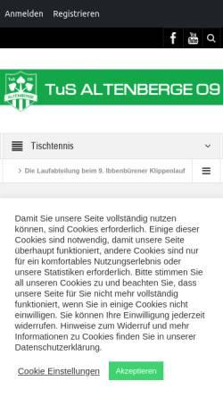 Vorschau der mobilen Webseite www.tus-altenberge.de, TuS Altenberge 09