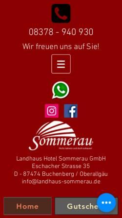 Vorschau der mobilen Webseite www.landhaus-sommerau.de, Landhaus Sommerau