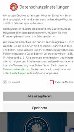 Vorschau der mobilen Webseite www.vco.de, Volleyball Club Offenburg