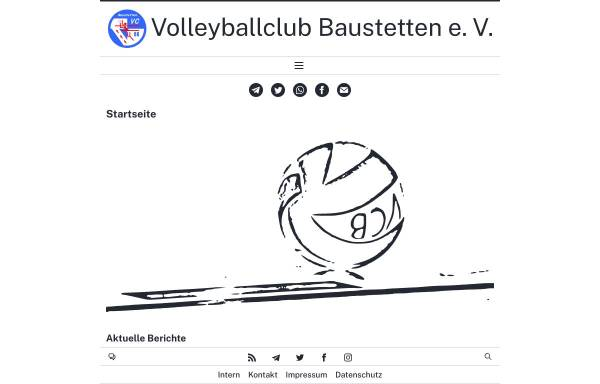 Vorschau von volleyball-baustetten.de, Volleyballclub Baustetten e.V.