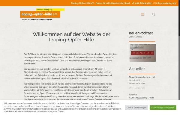 Vorschau von no-doping.org, Doping Opfer Hilfe e.V.