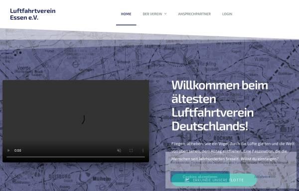 Vorschau von www.luftfahrtverein-essen.de, Luftfahrtverein Essen e.V.