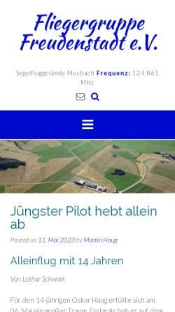 Vorschau der mobilen Webseite www.fg-freudenstadt.de, FG Freudenstadt