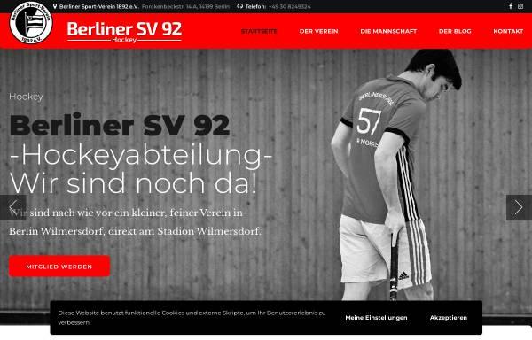 Vorschau von www.bsv92-hockey.de, Berliner Sportverein 92 Hockeyabteilung