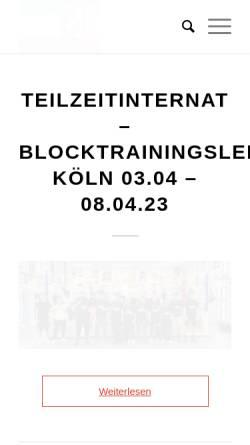 Vorschau der mobilen Webseite boxnrw.de, Boxsportverband Nordrhein-Westfalen e.V.