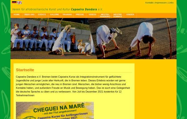 Vorschau von www.capoeira-dandara.de, Capoeira Dandara e.V.