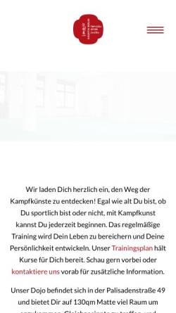 Vorschau der mobilen Webseite www.kikentai.berlin, Dojo Kikentai