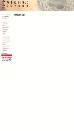 Vorschau der mobilen Webseite www.aikido-sursee.ch, Sursee - Aikido Sursee