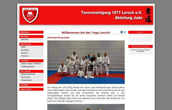 Vorschau von www.tv-lorsch-judo.de, Turnvereinigung 1871 Lorsch e.V.