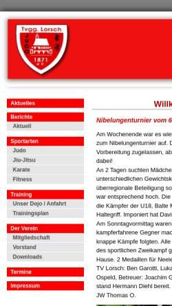Vorschau der mobilen Webseite www.tv-lorsch-judo.de, Turnvereinigung 1871 Lorsch e.V.