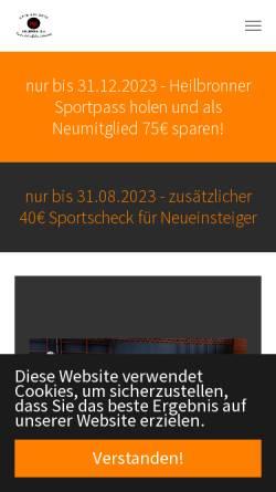 Vorschau der mobilen Webseite www.karate-sv-heilbronn.de, GojuKai Dojo Heilbronn