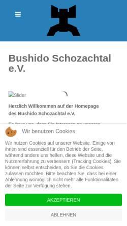 Vorschau der mobilen Webseite bushido-schozachtal.de, Bushido Schozachtal e.V.