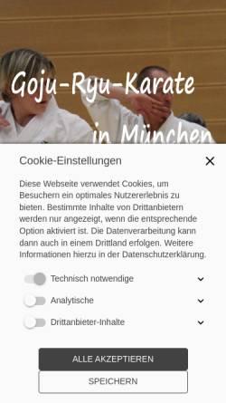 Vorschau der mobilen Webseite www.goju-kai-muenchen.de, Goju-Kai München e.V.