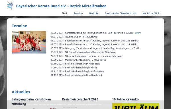 Vorschau von www.karate-mittelfranken.de, Bayerischer Karate Bund e.V. : Bezirk Mittelfranken