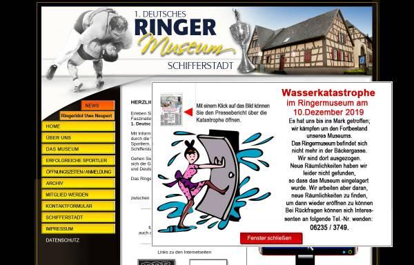 Vorschau von www.ringermuseum.de, 1. Deutsches Ringermuseum Schifferstadt