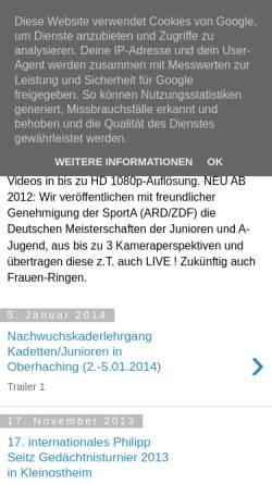 Vorschau der mobilen Webseite hdvideoteambayern-ringen.blogspot.de, HD VideoTeam Bayern