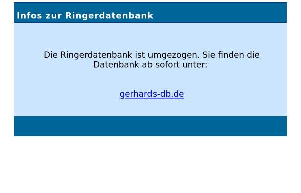 Vorschau von www.ringer-datenbank.de, Gerhard´s Ringer-Datenbank