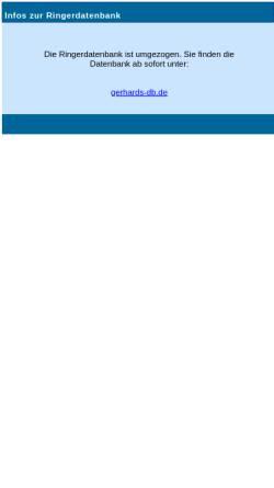 Vorschau der mobilen Webseite www.ringer-datenbank.de, Gerhard´s Ringer-Datenbank