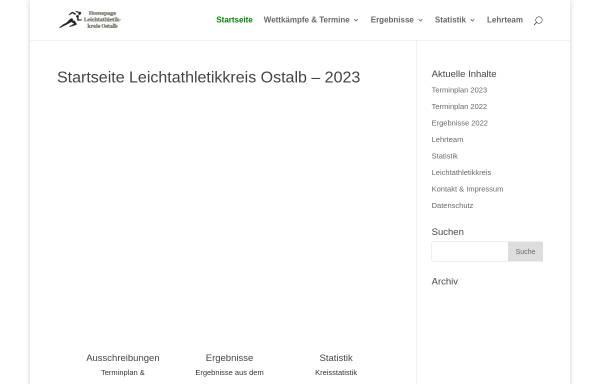 Vorschau von www.leichtathletik-ostalbkreis.de, Leichtathletikkreis Ostalb