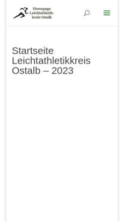 Vorschau der mobilen Webseite www.leichtathletik-ostalbkreis.de, Leichtathletikkreis Ostalb
