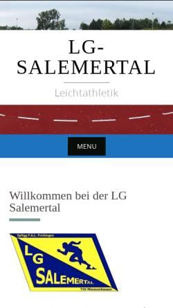 Vorschau der mobilen Webseite lg-salemertal.com, Leichtathletik-Gemeinschaft Salemertal
