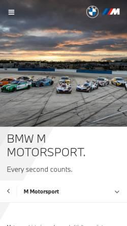 Vorschau der mobilen Webseite bmw-motorsport.com, BMW Motorsport