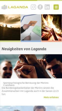 Vorschau der mobilen Webseite www.laganda.de, Laganda GmbH
