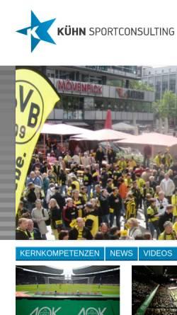 Vorschau der mobilen Webseite www.kuehn-sportconsulting.de, Kühn Sportconsulting