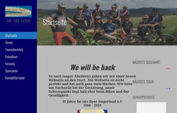 Vorschau von www.fat-tire-flyer.de, Fat Tire Flyer Siegerland e.V.