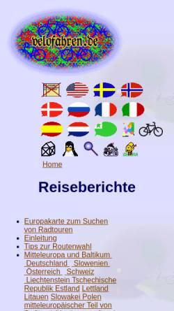 Vorschau der mobilen Webseite www.velofahren.de, Velofahren.de