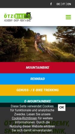 Vorschau der mobilen Webseite www.oetzi-bike-academy.com, ÖTZI Bike Academy Naturns
