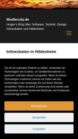 Vorschau der mobilen Webseite www.skaten-hildesheim.de, Skaten in Hildesheim