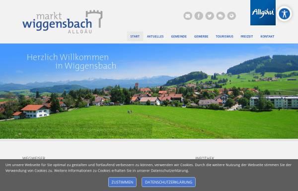 Vorschau von www.markt-wiggensbach.de, Markt Wiggensbach