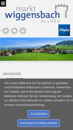 Vorschau der mobilen Webseite www.markt-wiggensbach.de, Markt Wiggensbach