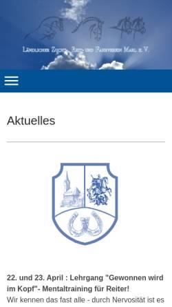 Vorschau der mobilen Webseite www.reitverein-marl.de, Reitverein St. Georg Marl