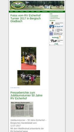 Vorschau der mobilen Webseite rv-eicherhof.de, Reitverein Eicherhof e.V. in Bergisch Gladbach