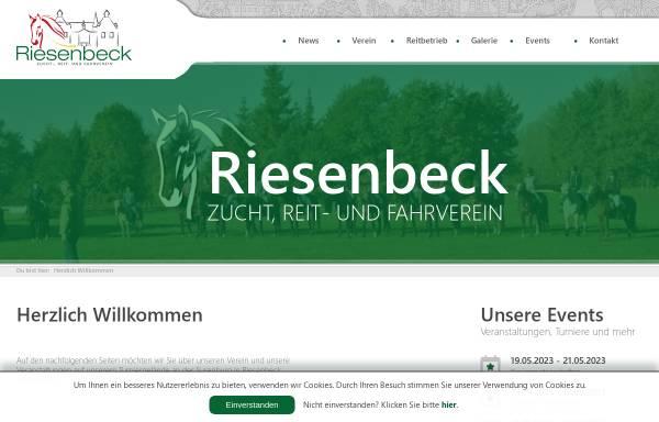 Vorschau von www.reiterverein-riesenbeck.de, Zucht-, Reit- und Fahrverein Riesenbeck e.V.