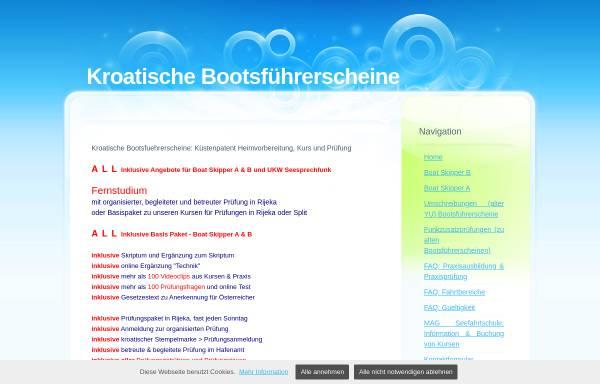 Vorschau von mag-seefahrtschule.beepworld.de, Kroatische Bootsführerscheine