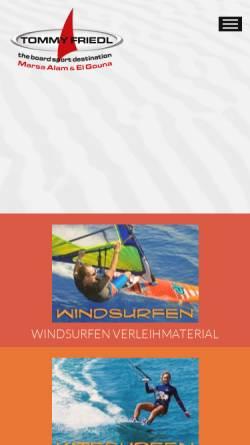 Vorschau der mobilen Webseite www.tommy-friedl.com, ProCenter Tommy Friedl Hurghada