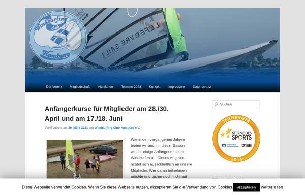 Vorschau von windsurfing-club-hamburg.de, Windsurfingclub Hamburg e.V.