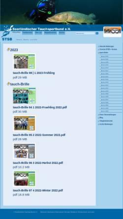 Vorschau der mobilen Webseite www.stsb.de, Tauchbrille