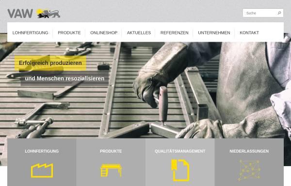 Vorschau von www.vaw.de, VAW – Landesbetrieb Vollzugliches Arbeitswesen