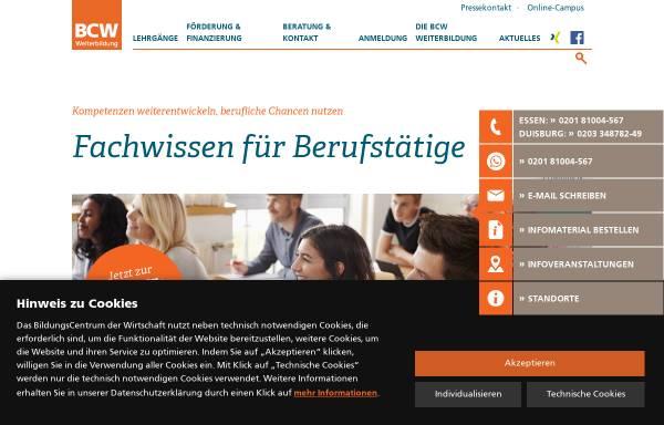 Vorschau von www.bcw-weiterbildung.de, BildungsCentrum der Wirtschaft gGmbH