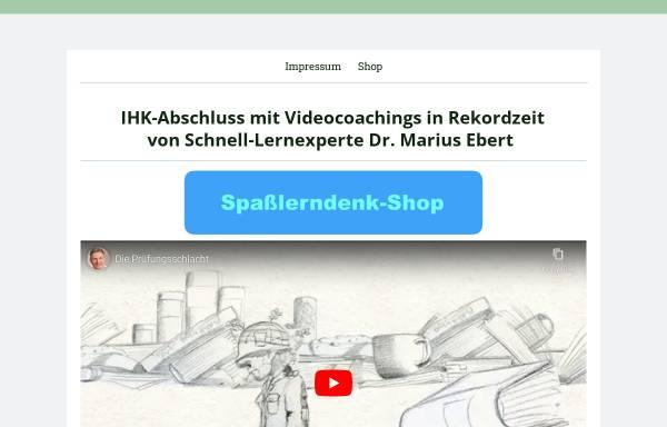 Vorschau von spassslerndenk.jimdo.com, Dr. Marius Ebert