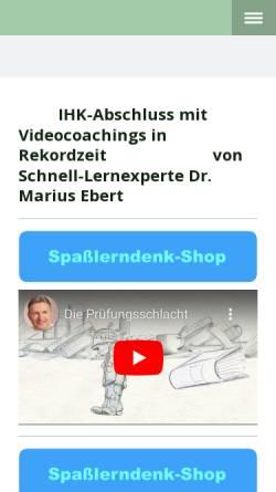 Vorschau der mobilen Webseite spassslerndenk.jimdo.com, Dr. Marius Ebert