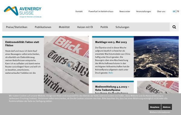 Vorschau von www.erdoel.ch, Erdöl-Vereinigung